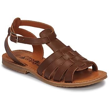 Schuhe Mädchen Sandalen / Sandaletten Citrouille et Compagnie MINIBOU Braun