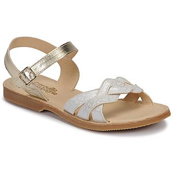 Schuhe Mädchen Sandalen / Sandaletten Citrouille et Compagnie MADELLE Silbern