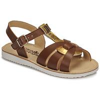 Schuhe Mädchen Sandalen / Sandaletten Citrouille et Compagnie MINOTTE Braun / Gold