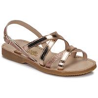 Schuhe Mädchen Sandalen / Sandaletten Citrouille et Compagnie GENTOU Bronze / Glitterfarbe