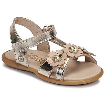 Schuhe Mädchen Sandalen / Sandaletten Citrouille et Compagnie MARELLE Silbern