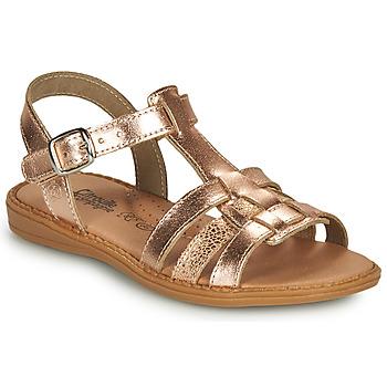 Schuhe Mädchen Sandalen / Sandaletten Citrouille et Compagnie ROLUI Bronze