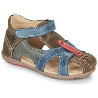 Schuhe Jungen Sandalen / Sandaletten Citrouille et Compagnie MARIOL Grau / Blau