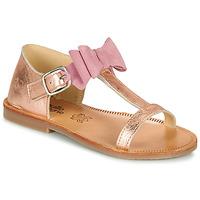 Schuhe Mädchen Sandalen / Sandaletten Citrouille et Compagnie MELINDA Silbern