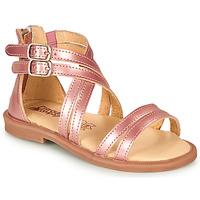 Schuhe Mädchen Sandalen / Sandaletten Citrouille et Compagnie IMOURAT Rose / Gold