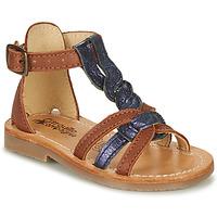 Schuhe Mädchen Sandalen / Sandaletten Citrouille et Compagnie GITANOLO Marine / Camel