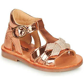Schuhe Mädchen Sandalen / Sandaletten Citrouille et Compagnie MINIMOME Bronze