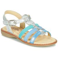 Schuhe Mädchen Sandalen / Sandaletten Citrouille et Compagnie GROUFLA Silbern / Blau