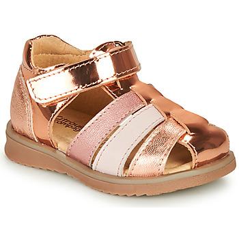 Schuhe Mädchen Sandalen / Sandaletten Citrouille et Compagnie FRINOUI Bronze / Rose
