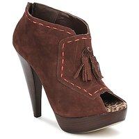 Schuhe Damen Ankle Boots Via Uno KAMILA Braun