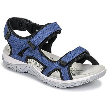 Schuhe Damen Sportliche Sandalen Allrounder by Mephisto LARISA Blau