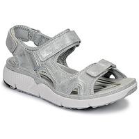 Schuhe Damen Sportliche Sandalen Allrounder by Mephisto ITS ME Silbern