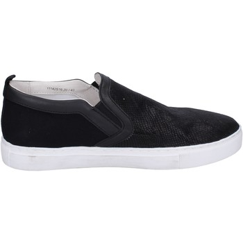 Schuhe Herren Slip on Crime London slip on leder schwarz