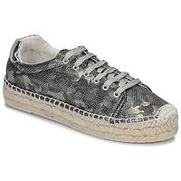 Schuhe Damen Leinen-Pantoletten mit gefloch Replay FONT Kaki