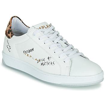 Schuhe Damen Sneaker Low Replay MELANIA Weiss