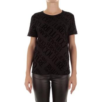 Kleidung Damen T-Shirts Versace B2HUB728 schwarz