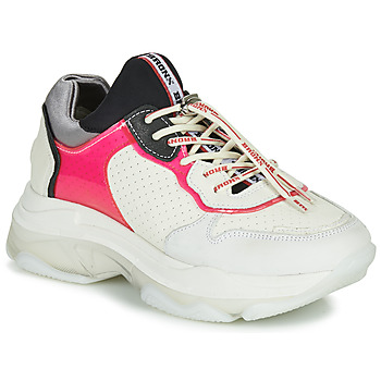 Schuhe Damen Sneaker Low Bronx BAISLEY Weiss / Rose