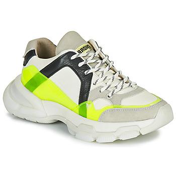 Schuhe Damen Sneaker Low Bronx SEVENTY STREET Weiss / Gelb