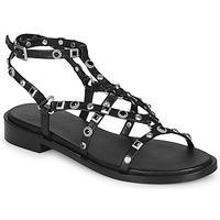 Schuhe Damen Sandalen / Sandaletten Bronx THRILL Schwarz