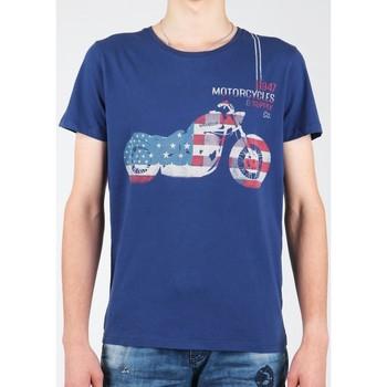Kleidung Herren T-Shirts Wrangler T-Shirt  S/S Biker Flag Tee W7A53FK 1F dunkelblau