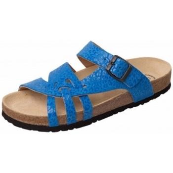 Schuhe Damen Sandalen / Sandaletten Weeger Bio Pantol Art. 11140-35 blau Leo