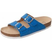 Schuhe Pantoffel Weeger Bio Pantol. Art. 41110-35 blau Leo