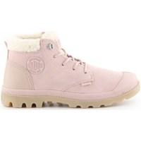 Schuhe Damen Schneestiefel Palladium Manufacture Pampa LO Rosa