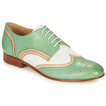 Schuhe Damen Derby-Schuhe Melvin & Hamilton SALLY 15 Grün / Weiss / Beige