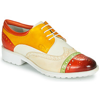 Schuhe Damen Derby-Schuhe Melvin & Hamilton AMELIE 85 Weiss / Gelb / Braun