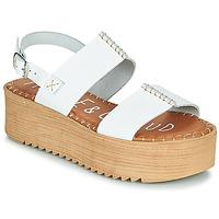 Schuhe Damen Sandalen / Sandaletten Musse & Cloud KILA Weiss