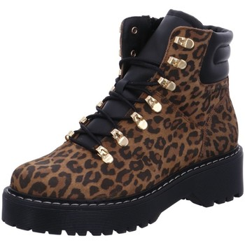 Schuhe Damen Low Boots Bullboxer Stiefeletten 364501E6C-COPA animal