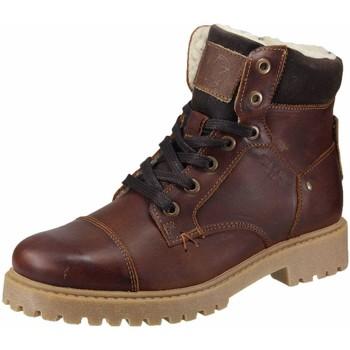Schuhe Jungen Schneestiefel Bullboxer Schnuerschuhe reh-mocca ALL518E6L-DKCG braun