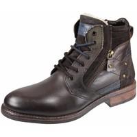 Schuhe Damen Boots Manitu Stiefeletten mocca 670602-2 braun