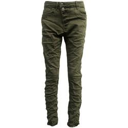 Kleidung Damen Slim Fit Jeans By La Vitrine Jeans kaki B3021-VB Grün
