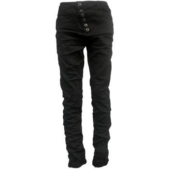 Kleidung Damen Slim Fit Jeans By La Vitrine Jeans noir B3021-H Schwarz