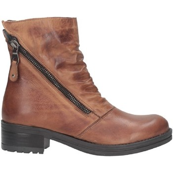Schuhe Damen Low Boots Made In Italia 6 BIKER ALTO Biker Frau Leder Leder