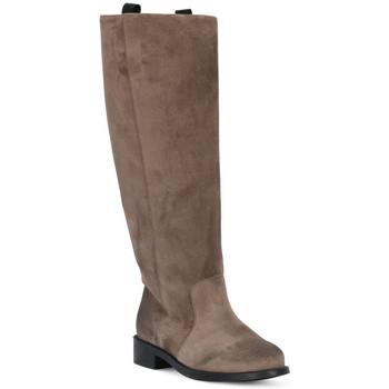 Schuhe Damen Klassische Stiefel Frau WAXY VISONE Marrone