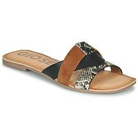 Schuhe Damen Pantoffel Gioseppo LANTANA Schwarz / Cognac
