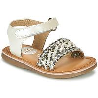 Schuhe Mädchen Sandalen / Sandaletten Gioseppo VARESE Weiss / Silbern