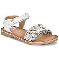 Schuhe Mädchen Sandalen / Sandaletten Gioseppo VIETRI Weiss / Silbern