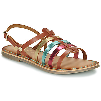 Schuhe Mädchen Sandalen / Sandaletten Gioseppo ETALLE Cognac / Multifarben