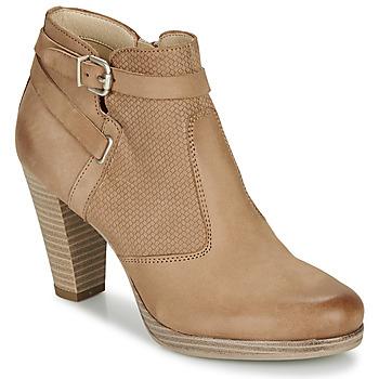 Schuhe Damen Low Boots André BERNETTA Camel