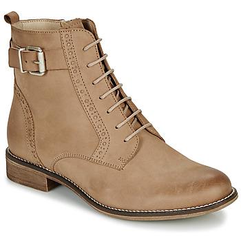 Schuhe Damen Boots André CHEPTELA Camel