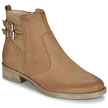 Schuhe Damen Boots André CARLIN Camel