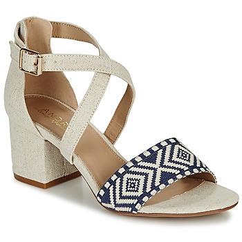 Schuhe Damen Sandalen / Sandaletten André PAOLITA Beige