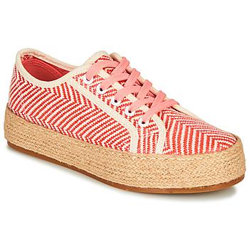 Schuhe Damen Leinen-Pantoletten mit gefloch André PEN Orange