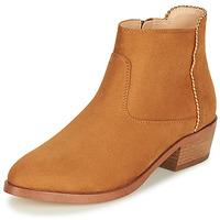 Schuhe Damen Boots André BELEN Camel