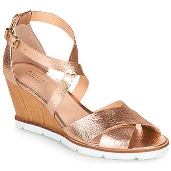 Schuhe Damen Sandalen / Sandaletten André PEONY Gold