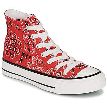 Schuhe Damen Sneaker High André HEAVEN Rot