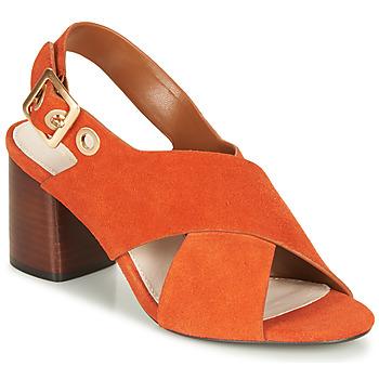 Schuhe Damen Sandalen / Sandaletten André JANNINE Orange